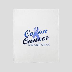 Colon Cancer Awareness Throw Blanket