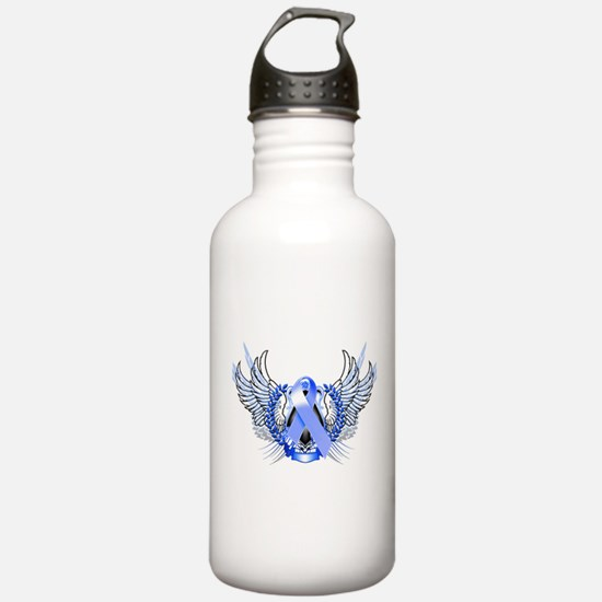 Awareness Tribal Blue Water Bottle