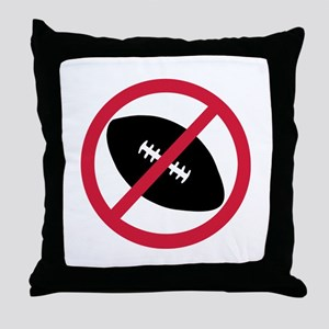 No football Throw Pillow