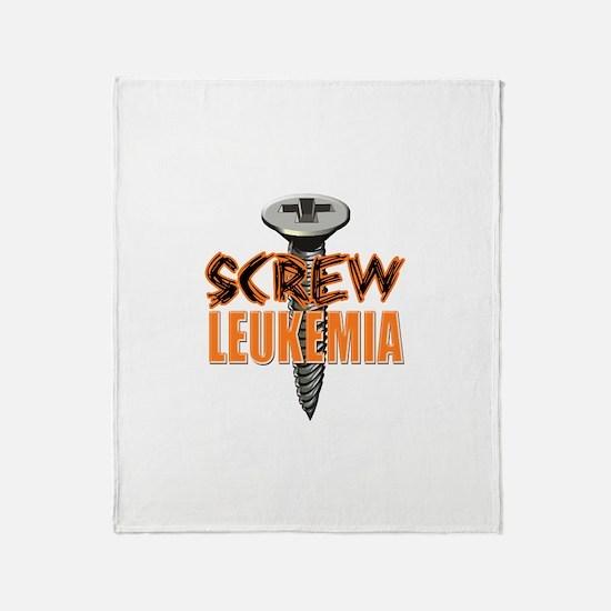 Screw Leukemia Throw Blanket