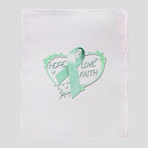 Hope Love Faith Throw Blanket