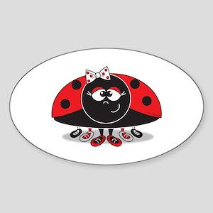 Little Ladybug Oval Sticker