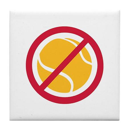 No tennis Tile Coaster