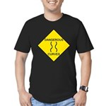 Dangerous Curves Sign Men's Fitted T-Shirt (dark)