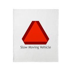 Slow Moving Vehicle 1 Throw Blanket