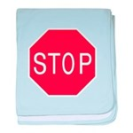 Stop Sign baby blanket