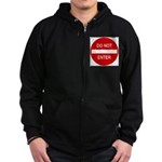 Do Not Enter 1 Zip Hoodie (dark)