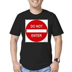 Do Not Enter 1 Men's Fitted T-Shirt (dark)