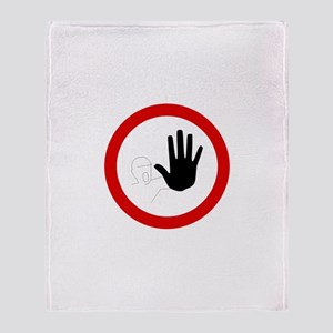 Restricted Access Sign Throw Blanket