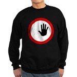 Restricted Access Sign Sweatshirt (dark)