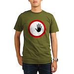 Restricted Access Sign Organic Men's T-Shirt (dark