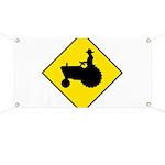 Tractor Crossing Banner