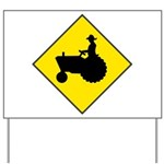 Tractor Crossing Yard Sign