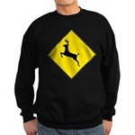 Deer Crossing Sign Sweatshirt (dark)