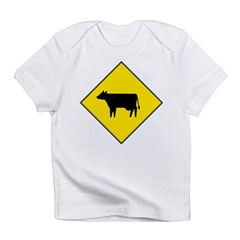 Cattle Crossing Sign Infant T-Shirt