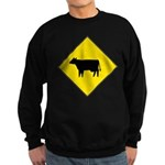 Cattle Crossing Sign Sweatshirt (dark)