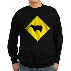 Cattle Crossing Sign Sweatshirt (dark)