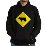 Cattle Crossing Sign Hoodie (dark)