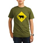 Cattle Crossing Sign Organic Men's T-Shirt (dark)