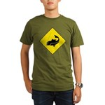 Fishing Area Sign Organic Men's T-Shirt (dark)