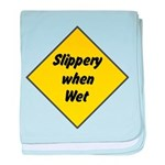 Slippery When Wet 2 baby blanket