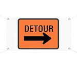 Detour Sign Banner