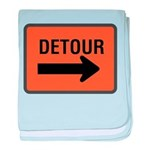 Detour Sign baby blanket