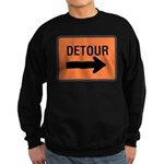 Detour Sign Sweatshirt (dark)