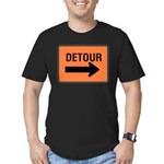 Detour Sign Men's Fitted T-Shirt (dark)