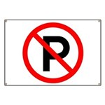 No Parking Sign Banner