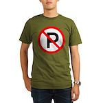 No Parking Sign Organic Men's T-Shirt (dark)