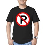 No Parking Sign Men's Fitted T-Shirt (dark)