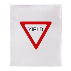 Yield SIgn Throw Blanket
