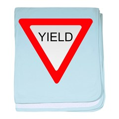Yield SIgn baby blanket