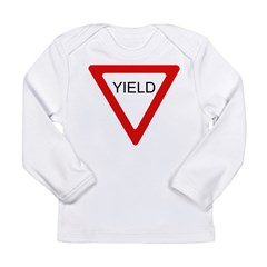Yield SIgn Long Sleeve Infant T-Shirt