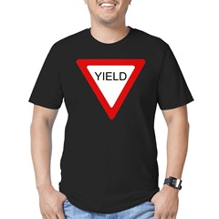 Yield SIgn Men's Fitted T-Shirt (dark)