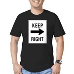 Keep Right Sign Men's Fitted T-Shirt (dark)