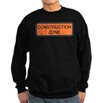 Construction Zone Sign Sweatshirt (dark)