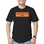 Construction Zone Sign Men's Fitted T-Shirt (dark)
