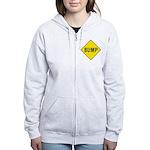 Warning - Bump Sign Women's Zip Hoodie