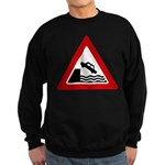Cliff Warning Sign Sweatshirt (dark)