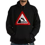 Cliff Warning Sign Hoodie (dark)