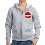Do Not Enter Sign Women's Zip Hoodie