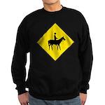 Horse Crossing Sign Sweatshirt (dark)