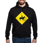 Horse Crossing Sign Hoodie (dark)