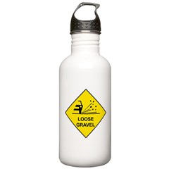 Yellow Loose Gravel Sign - Stainless Water Bottle