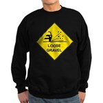 Yellow Loose Gravel Sign - Sweatshirt (dark)