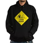 Yellow Loose Gravel Sign - Hoodie (dark)