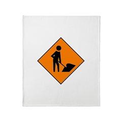 Men at Work 3 Throw Blanket