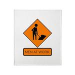 Men at Work 2 Throw Blanket